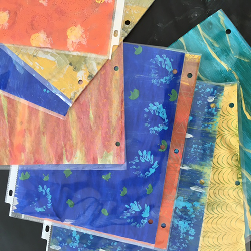 pained paper from workshop at Eric Carle Museum