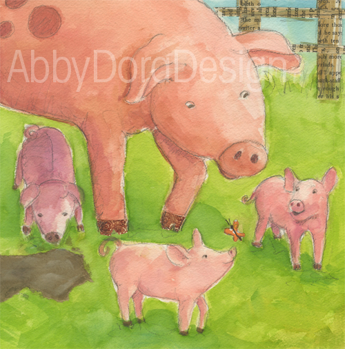 children's art by Abby Dening